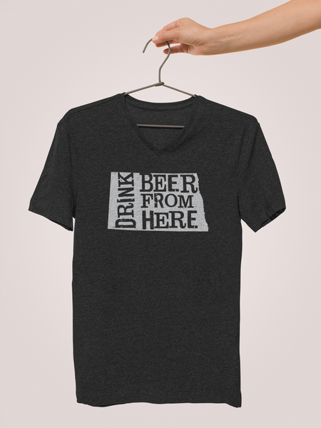 North Dakota Drink Beer From Here® - V-Neck Craft Beer shirt