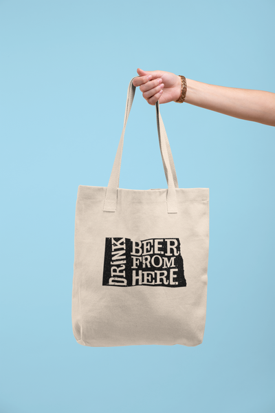 North Dakota Drink Beer From Here® Tote