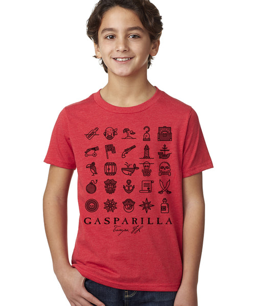 Gasparilla shirt-Pirate Icons kids shirt