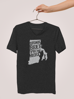 Rhode Island Drink Beer From Here® - V-Neck Craft Beer shirt