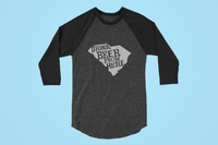 South Carolina Drink Beer From Here® - Craft Beer Baseball tee