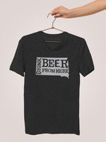 South Dakota Drink Beer From Here® - V-Neck Craft Beer shirt