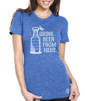 Lightning & Craft Beer Women's Tee- Drink Beer From here hockey shirt