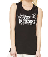 Support Your Local Bartender tank- FL Craft Beer Industry Support