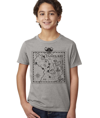 Gasparilla shirt-Tampa Treasure map kids shirt