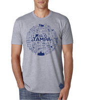 Tampa Icons- Men's Crew Neck t-shirt- Tampa, FL