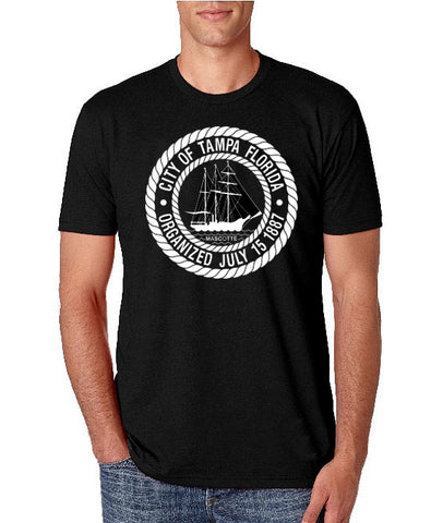 City of Tampa Seal- Men's Crew Neck t-shirt- Tampa, FL