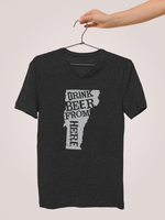 Vermont Drink Beer From Here® - V-Neck Craft Beer shirt