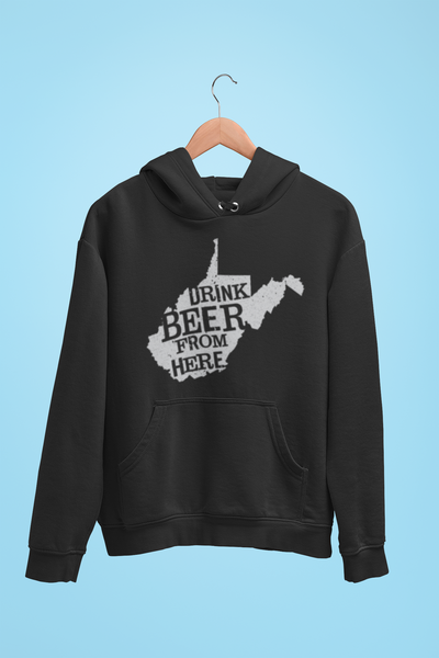 West Virginia Drink Beer From Here® - Craft Beer Hoodie