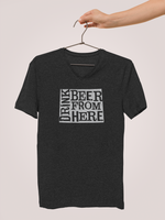 Wyoming Drink Beer From Here® - V-Neck Craft Beer shirt