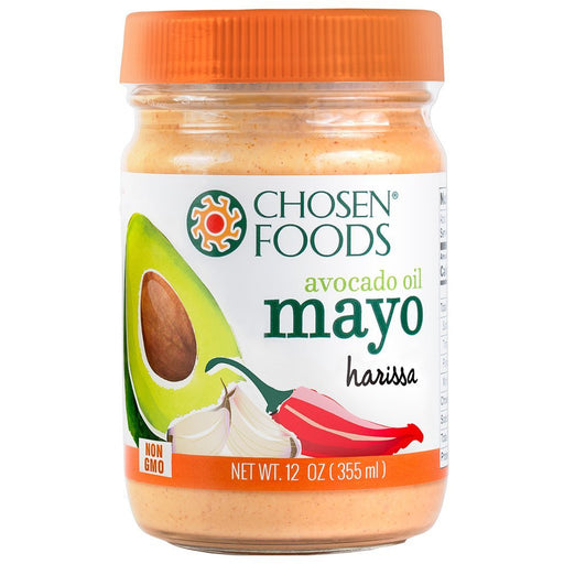 Chosen Foods® Harissa Mayonnaise (100% Pure Avocado Oil) - 355ml (Best Before 11/06/2020)