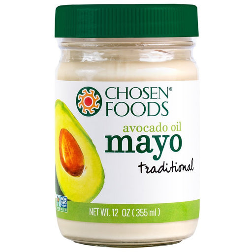 Chosen Foods® Traditional Mayonnaise (100% Pure Avocado Oil) - 355ml. Expiry Date: 28/02/2021. Ready to Ship from 02/06/2020