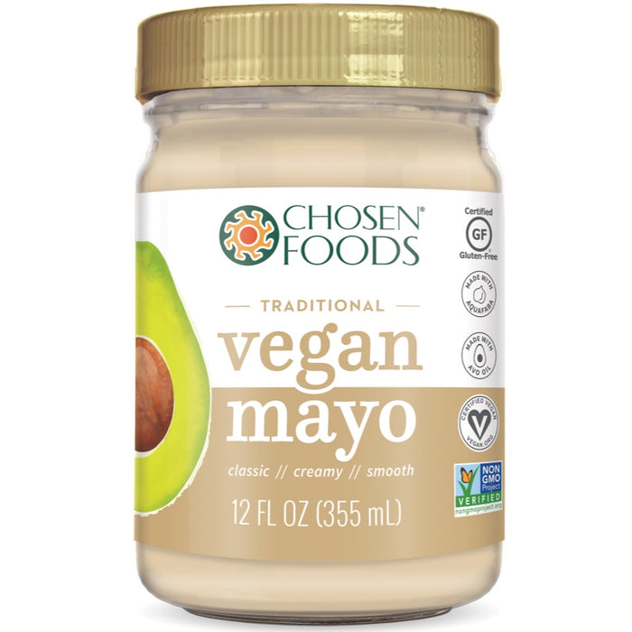 Chosen Foods® Vegan Mayonnaise (100% Pure Avocado Oil) - 355ml