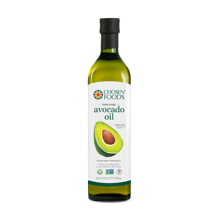 Chosen Foods® (1 CARTON OF 6 BOTTLES) 100% Pure Avocado Oil  (750ml Bottle)<br>BEST BEFORE DATE: JUNE 2021 <br>LIMITED QUANTITY
