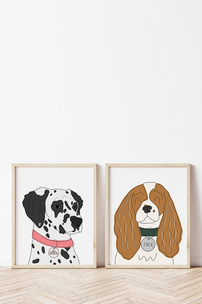 Set of 2 Custom Pet Portraits