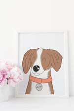 Custom Cartoon Pet Portrait by Shop Happies - digital download