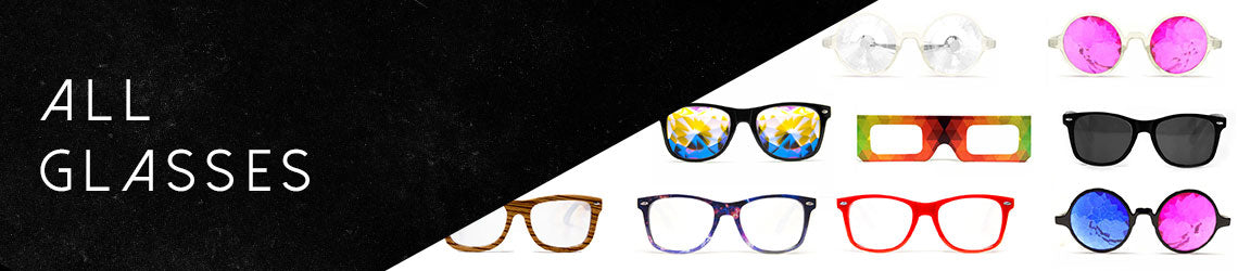 shop kaleidoscope glasses and diffraction glasses