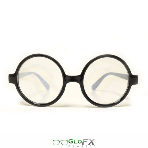 GloFX Round Retro Spiral Diffraction Glasses - Rave Galore