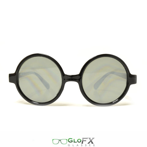 GloFX Round Retro Diffraction Glasses – Tinted - Rave Galore