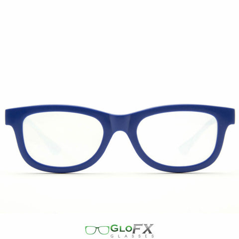 GloFX Standard Diffraction Glasses – Blue - Rave Galore