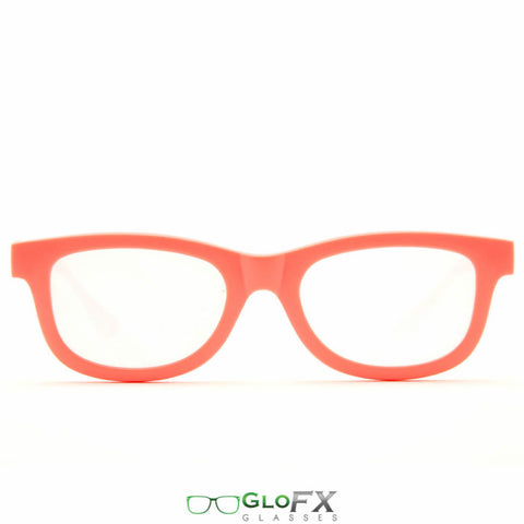 GloFX Standard Diffraction Glasses – Coral - Rave Galore