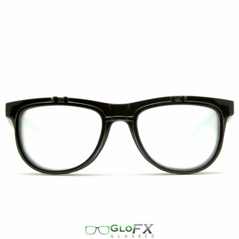GloFX Matrix Diffraction Glasses- Black - Rave Galore
