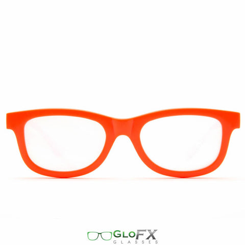 GloFX Standard Diffraction Glasses – Orange - Rave Galore
