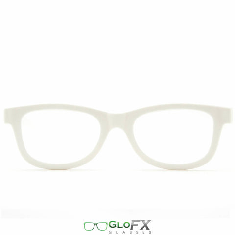 GloFX Standard Diffraction Glasses – White - Rave Galore