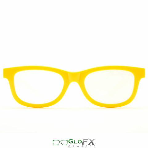GloFX Standard Diffraction Glasses – Yellow - Rave Galore