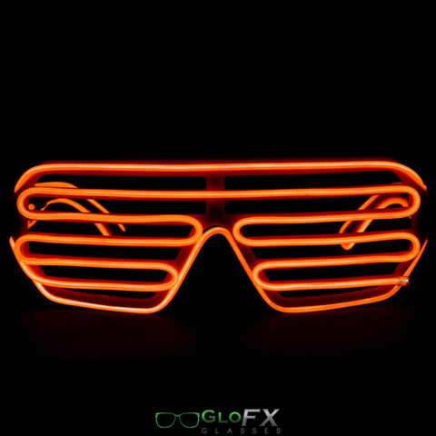 GloFX Luminescence Shutter Frames- Orange w/ Orange - Rave Galore