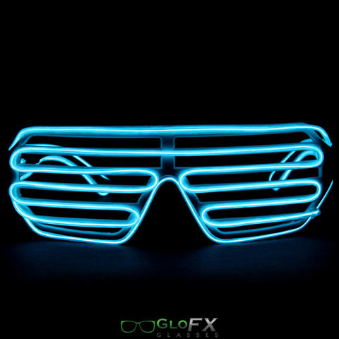 GloFX Luminescence Shutter Frames- White w/ Cyan - Rave Galore
