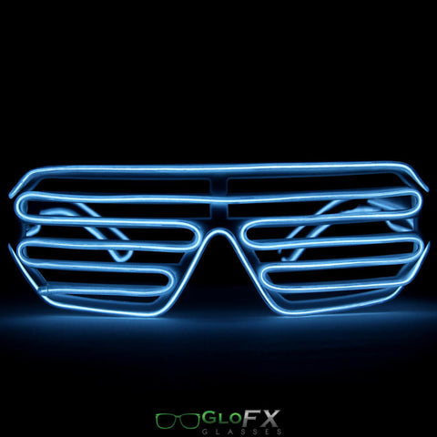 GloFX Luminescence Shutter Frames- White w/ White - Rave Galore