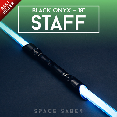GloFX Space Saber – 48″ Black Onyx Staff - Rave Galore