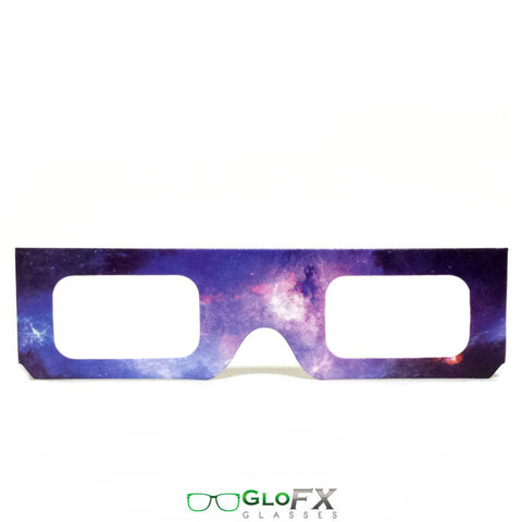 GloFX Paper Cardboard Diffraction Glasses – Galaxy Spiral - Rave Galore