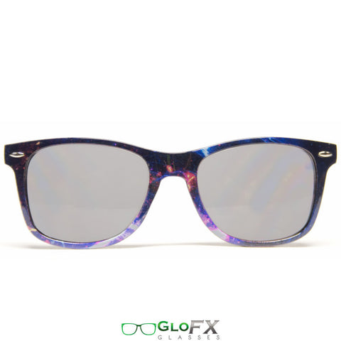 GloFX Galaxy Diffraction Glasses – Tinted - Rave Galore