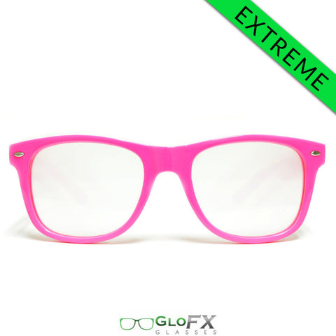GloFX Ultimate EXTREME Diffraction Glasses – Pink - Rave Galore