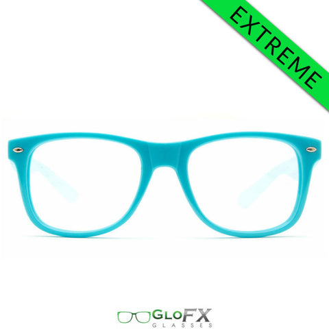 GloFX Ultimate EXTREME Diffraction Glasses – Blue - Rave Galore