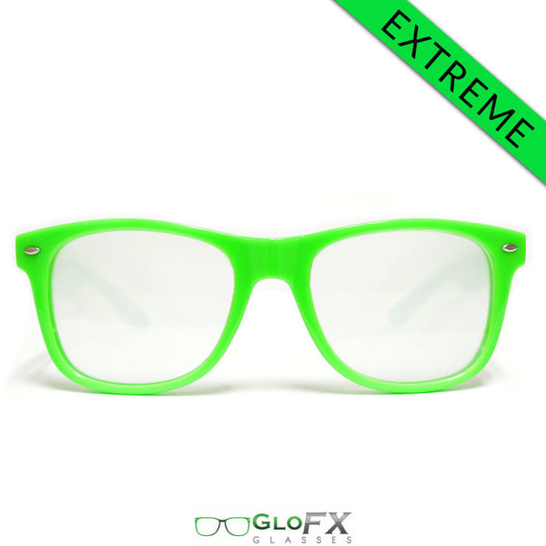 GloFX Ultimate EXTREME Diffraction Glasses – Green - Rave Galore