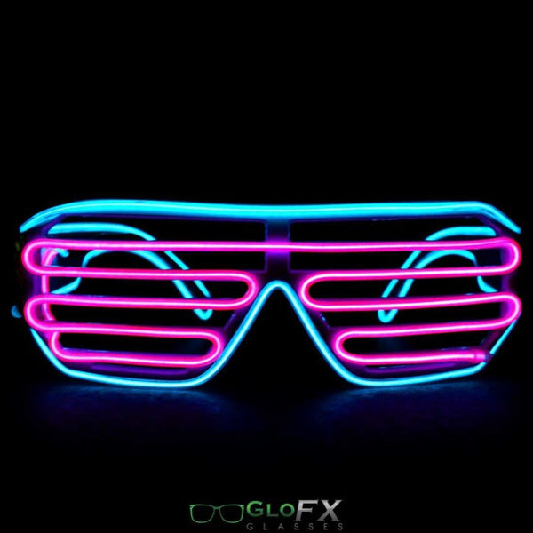 GloFX Luminescence Shutter Frames- Cyan and Pink - Rave Galore