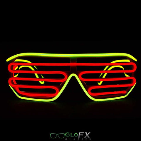 GloFX Luminescence Shutter Frames- Yellow and Red - Rave Galore