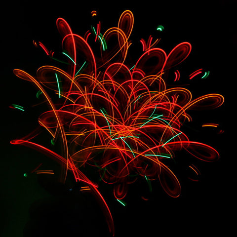 GloFX Team 4-LED Orbit: Firework - Rave Galore