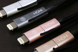 MFI 蘋果認證 Lightning & Micro USB To USB 傳輸充電線(太空灰) - HOMI CREATIONS - LCW Fashion Ltd.
