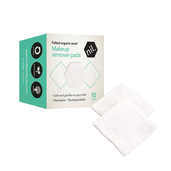 reusable make up remover pads (NZ wool)