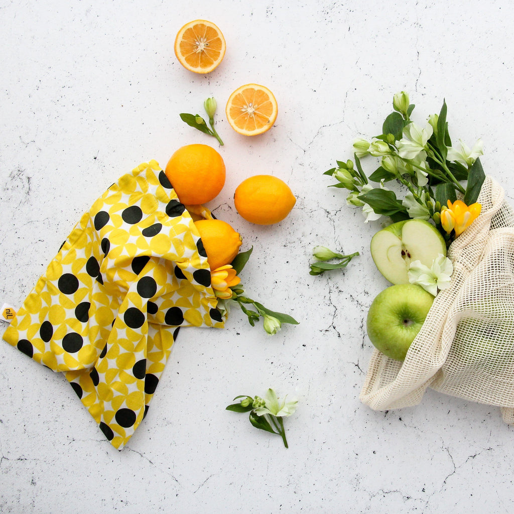 nil Organic Produce Bags - 3 pack (dot design)