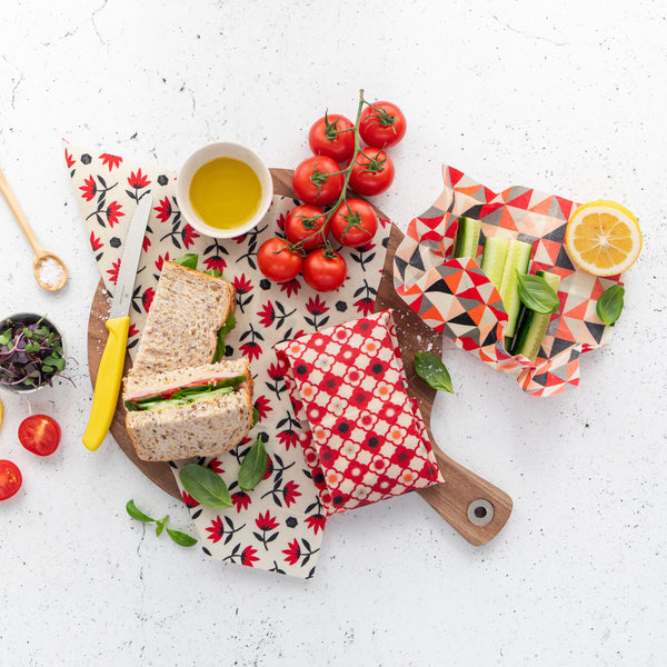 nil organic beeswax food wrap  (Red range)