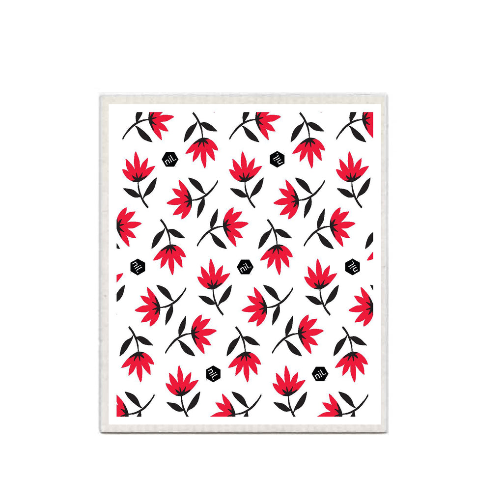 nil eco dishcloth (Red range)