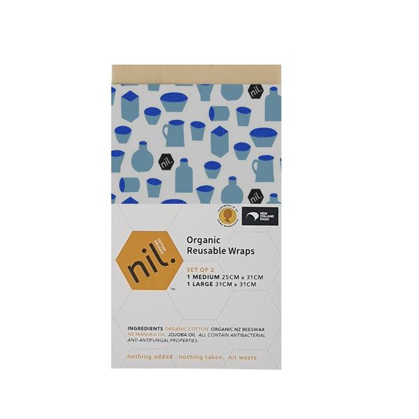 nil organic beeswax food wrap (Blue range)