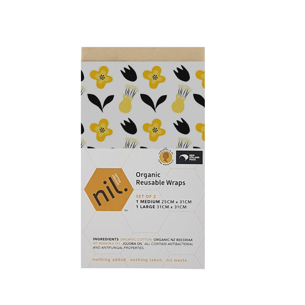 nil organic beeswax food wrap (Yellow range)