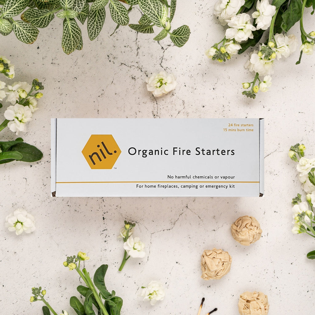 nil fire starters - organic (pack of 24)