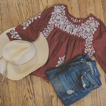 Aggie Maroon Saturday Blouse (XS)